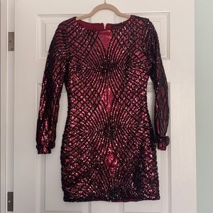 Akira Chicago Sequin Party Dress